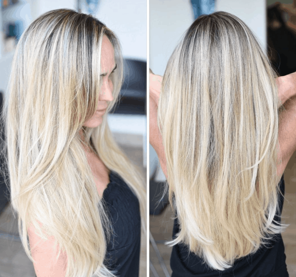 Super long layered hairstyle