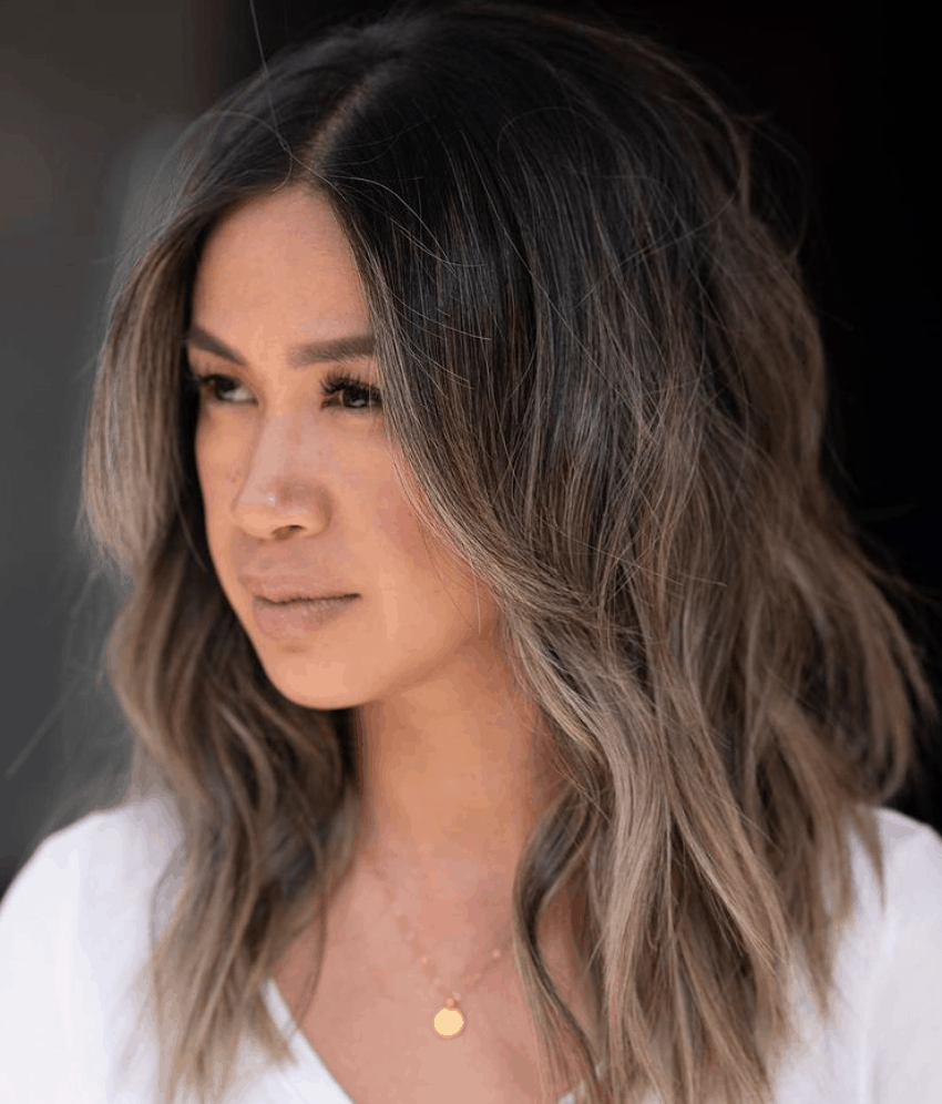 Ombre layered hair