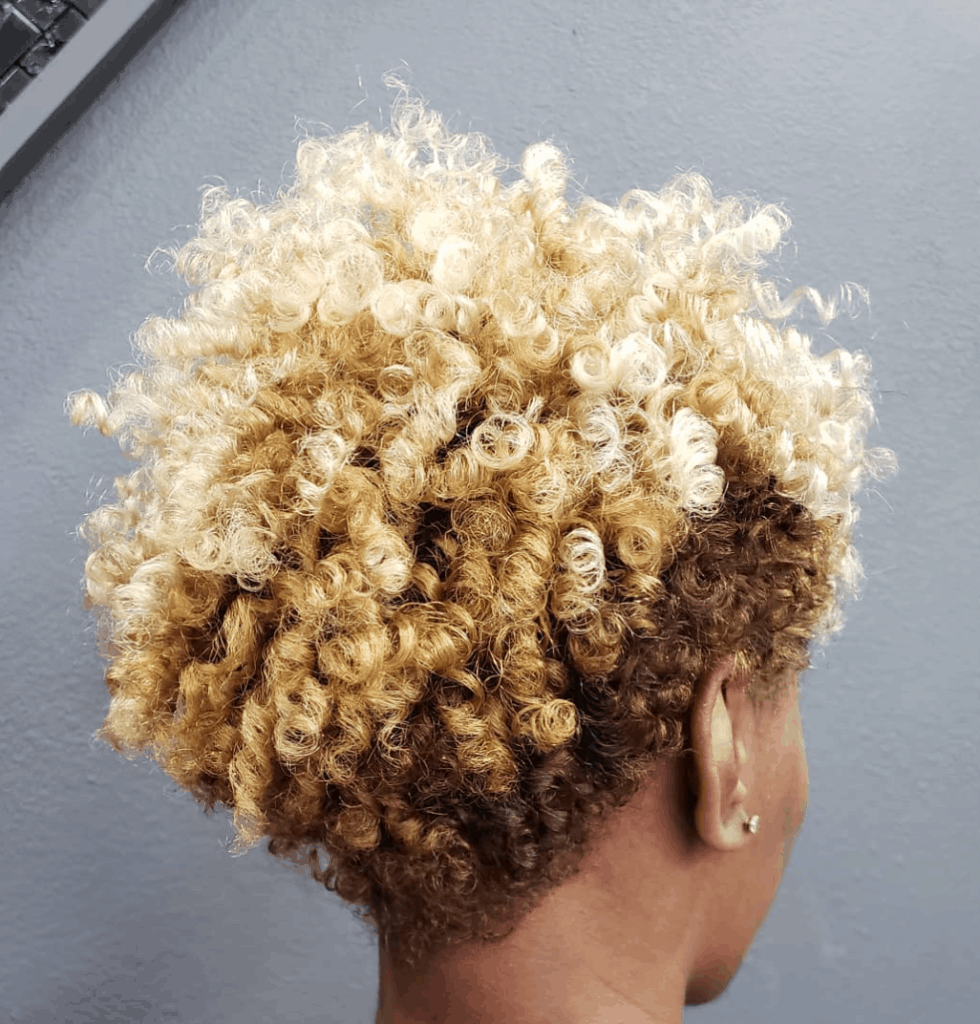 Short and curly layered hair